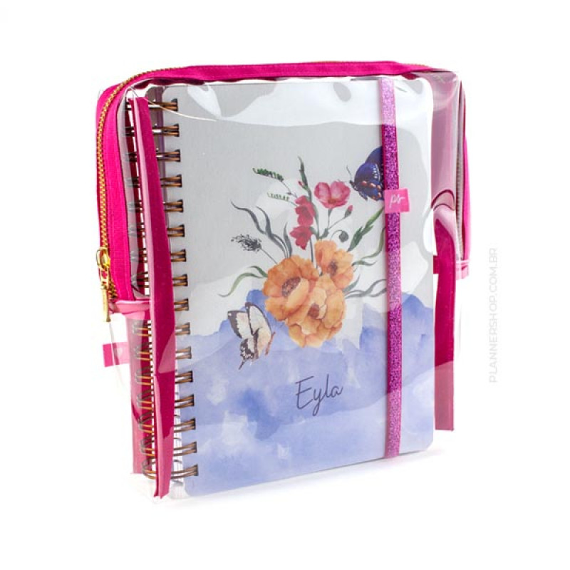 Case para Mini Planner - Pink Cherry Cristal