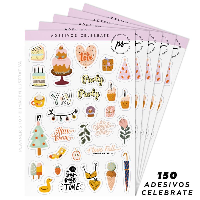 Kit de Adesivos - Celebrate