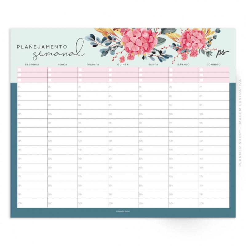 Bloco Planejamento Semanal – Belle