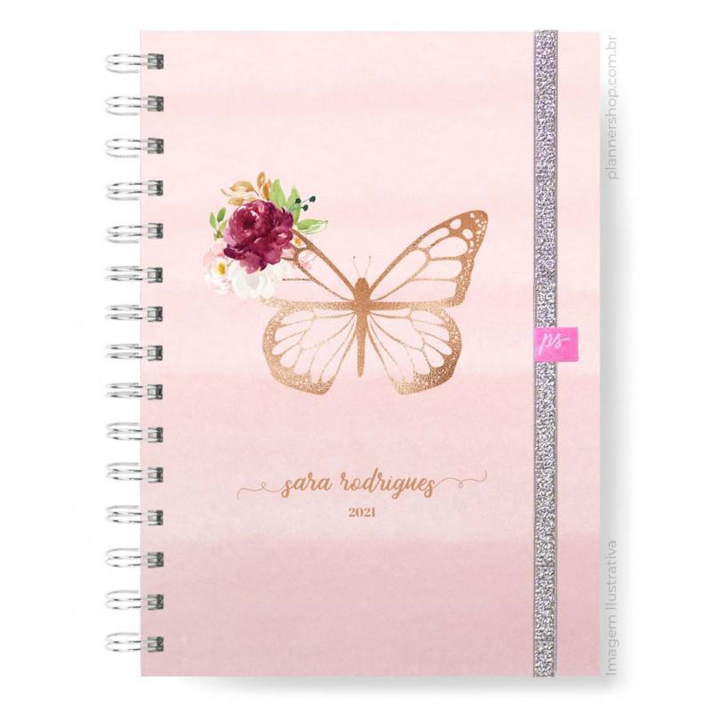 Planner Mensal - Blush Butterfly
