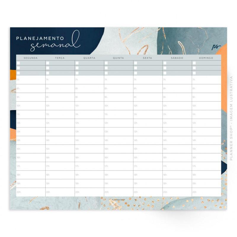 Bloco Planejamento Semanal – New Tropical