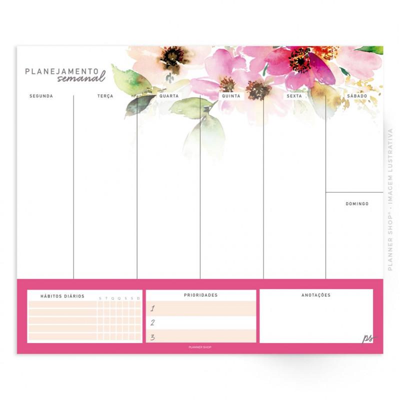 Bloco Planejamento Semanal – Rose