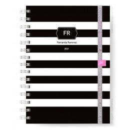 Planner Mensal - Black Stripes Classic