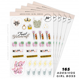 Kit de Adesivos - Girl Boss