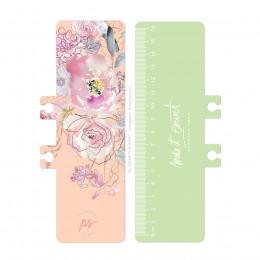 Régua/Marcador de Páginas - Floral Pastel